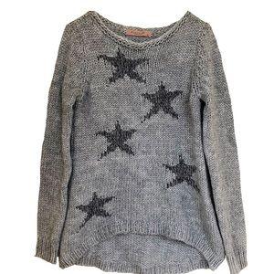 Anthropologie Elsamanda star chunky knit sweater